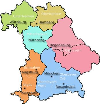 Regierungsbezirke Bayern Regierungsbezirke Bayern